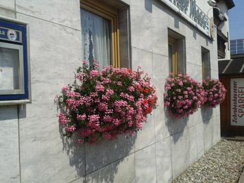 Am Eingang vom Gasthof Magg
